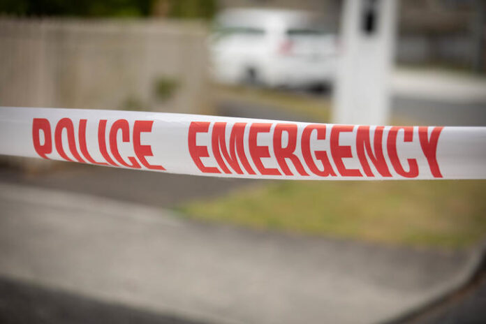 Unexplained death in Taita, Lower Hutt early on Sunday 26th January 2020.  A Police cordon and crime scene invetsigation tent were in place Monday 27th January 2020.  Police Emergency tape.