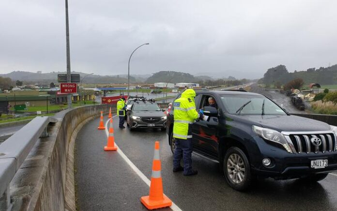 Police at Auckland