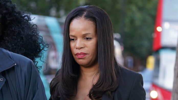 Claudia Webbe, MP for Leicester East, leaves Westminster Magistrates Court in London