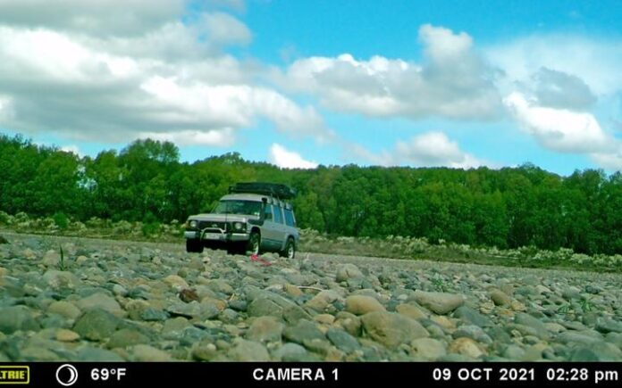 The offending 4WD vehicle on the Ashley River